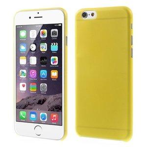 Ultra dunne, stevige 0.3 mm dikke iPhone 6 6s hoesjes - Geel