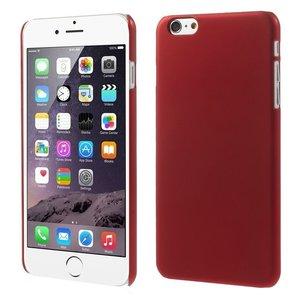 Stevige gekleurde hardcase iPhone 6 Plus 6s Plus Hoesje - Rood