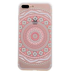 Mandala hoesje TPU patroon case iPhone 7 Plus 8 Plus - Pastel