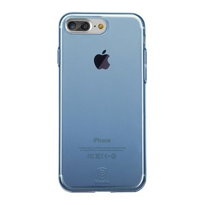 Baseus Simple Series doorzichtig hoesje iPhone 7 Plus 8 Plus - Blauw