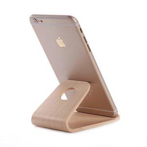 SAMDI luxe houten Telefoonstand houder - Hout Standaard