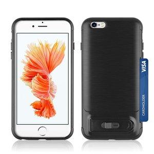 Brushed Iphone 6 Plus 6s Plus Tpu Kunststof Hybride Case Pasjes