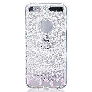 Mandala transparant hoesje patroon TPU case iPod Touch 5 6 7 - Wit Lichtroze