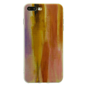 Tinystories Handgeschilderde zonsondergang illustratie hoesje iPhone 7 Plus 8 Plus - Sunset Case