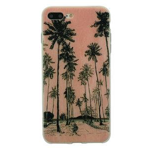Tinystories Handgeschilderde palmbomen illustratie hoesje iPhone 7 Plus 8 Plus - Palm Case