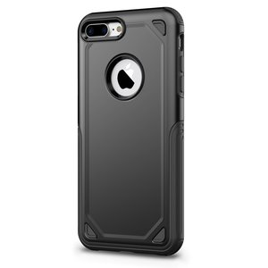 Pro Armor Black beschermend hoesje iPhone 7 Plus 8 Plus - Zwart Case