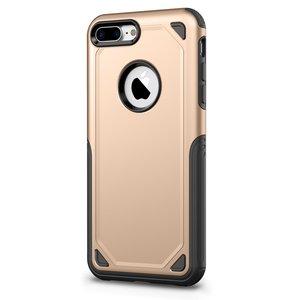 Pro Armor Gold beschermend hoesje iPhone 7 Plus 8 Plus - Goud Case