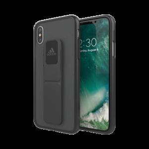 Adidas Grip iPhone X XS hoesje met band - Zwart