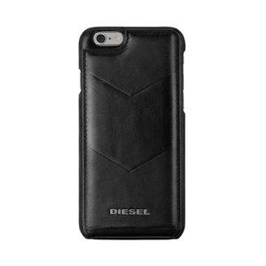 Diesel hoesje lederen flipcase iPhone 6 6s - Zwart