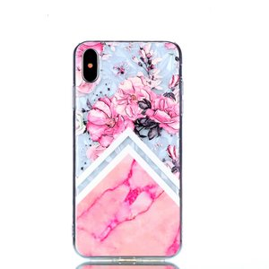 Diamant hoesje TPU iPhone XS Max Case - Roze
