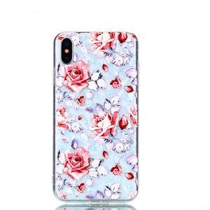 Diamant hoesje TPU iPhone XS Max Case - Rozen