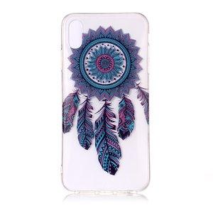 Doorzichtig Dromenvanger iPhone XS Max TPU hoesje - Blauw Paars