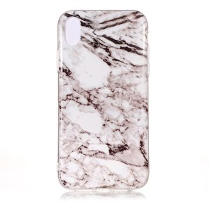 Marmer TPU Hoesje iPhone XS Max Case - Wit