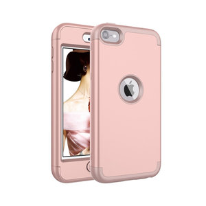 Armor Schokbestendig Silicone Polycarbonaat iPod Touch 5 6 7 hoesje - Roze