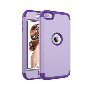 Armor Schokbestendig Silicone Polycarbonaat iPod Touch 5 6 7 hoesje - Paars