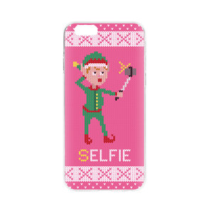 Ugly Kersttrui.Flavr Kerst Cardcase Ugly Xmas Kersttrui Selfie Elfje Iphone 6 6s Roze