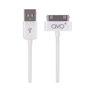 AVO+ oplaadkabel Pin to USB iPhone 4 4s iPod Touch 4 iPad 4 - Wit