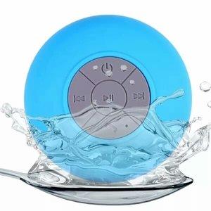 Spatwaterdichte bluetooth douche & bad speaker - Blauw
