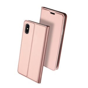 Dux Ducis Cover booklet case hoesje met flap leren hoes iPhone XS Max- Rose Goud