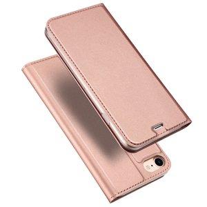Dux Ducis Cover booklet case hoesje met flap leren hoes iPhone 7 8 - Rose Gold