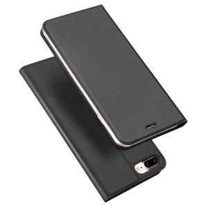 Dux Ducis Cover booklet case hoesje met flap leren hoes iPhone 7 Plus 8 Plus - Zwart