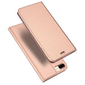 Dux Ducis Cover booklet case hoesje met flap leren hoes iPhone 7 Plus 8 Plus - Rose Gold