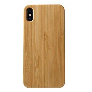 Houten hoesje TPU iPhone XS Max Cover - Bruin case