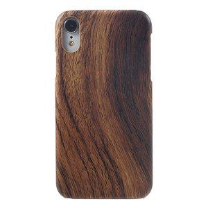 Hout look iPhone XR Hardcase hoesje - Bruin Hout Textuur