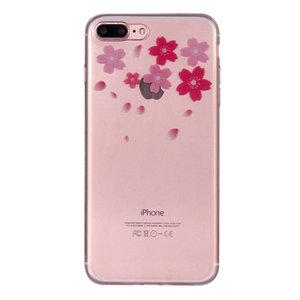 Bloem TPU Hoesje iPhone 7 Plus 8 Plus cover - Doorzichtig