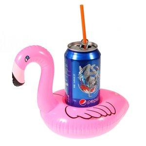 Flamingo Opblaasbare bekerhouder - Roze