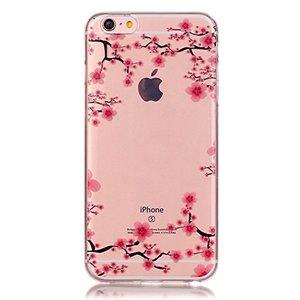 Doorzichtig Bloesem iPhone 6 6s TPU hoesje - Roze