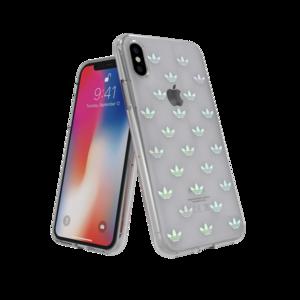 adidas OR Snap Case ENTRY doorzichtig case iPhone X XS hoesje - Kleurrijk